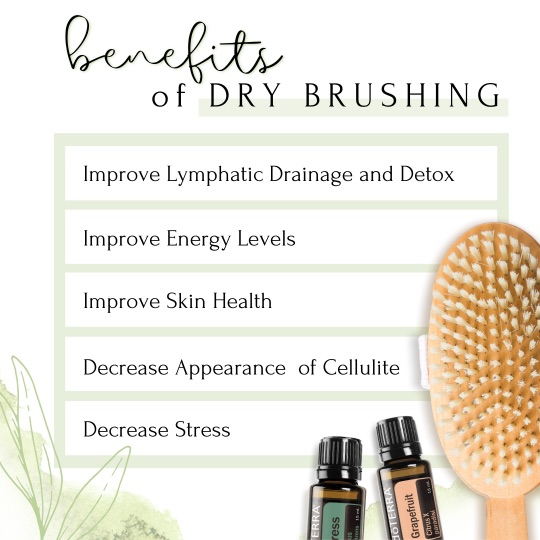 List of 5 benefits of Dry Brushing